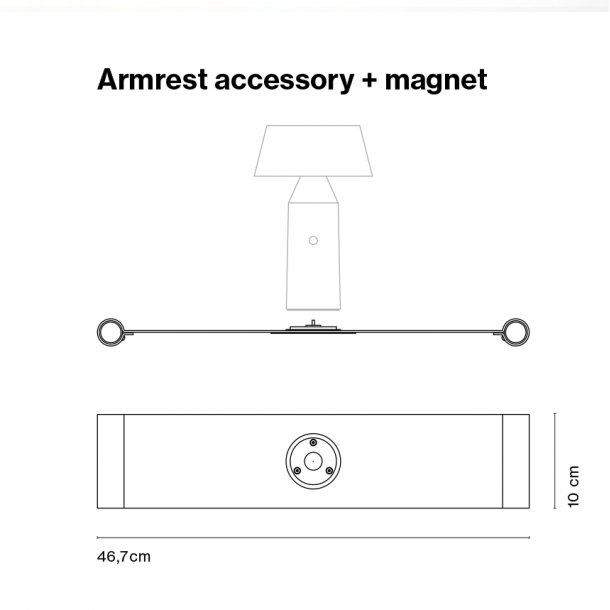 Armlæn tilbehør + magnet