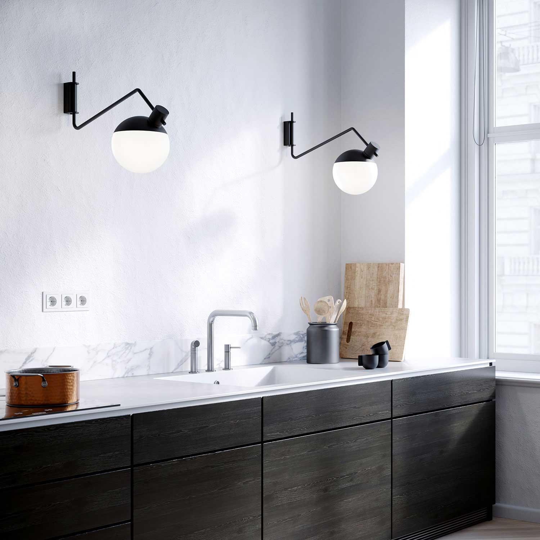 Picture of: Baluna Medium Vaeglampe Funktionel Design Lampefeber