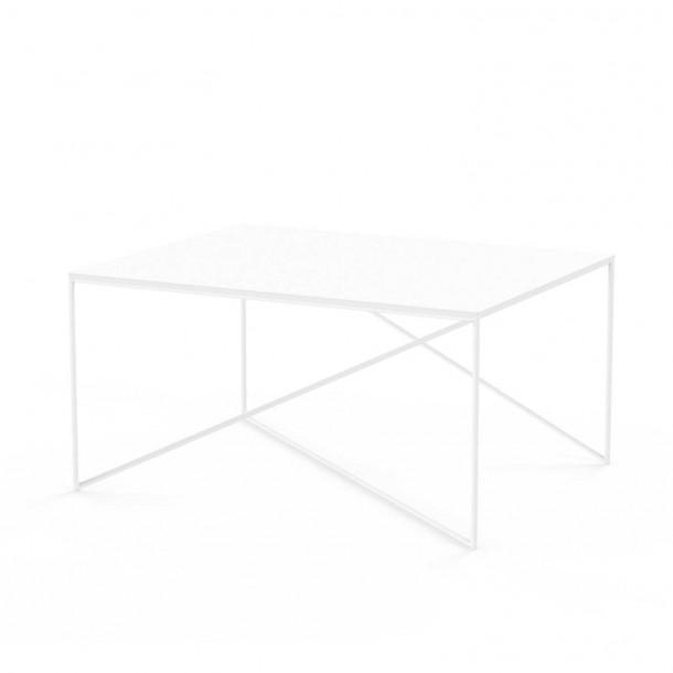 Dot L Table white