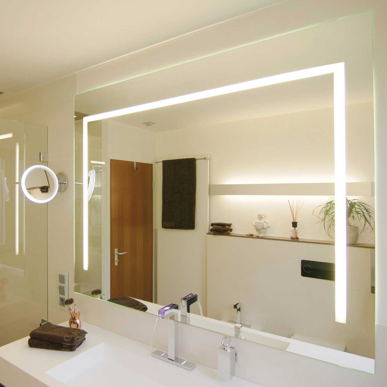 Picture of: Spejle I Specialmal I Krystal Med Indbygget Lys Lampefeber