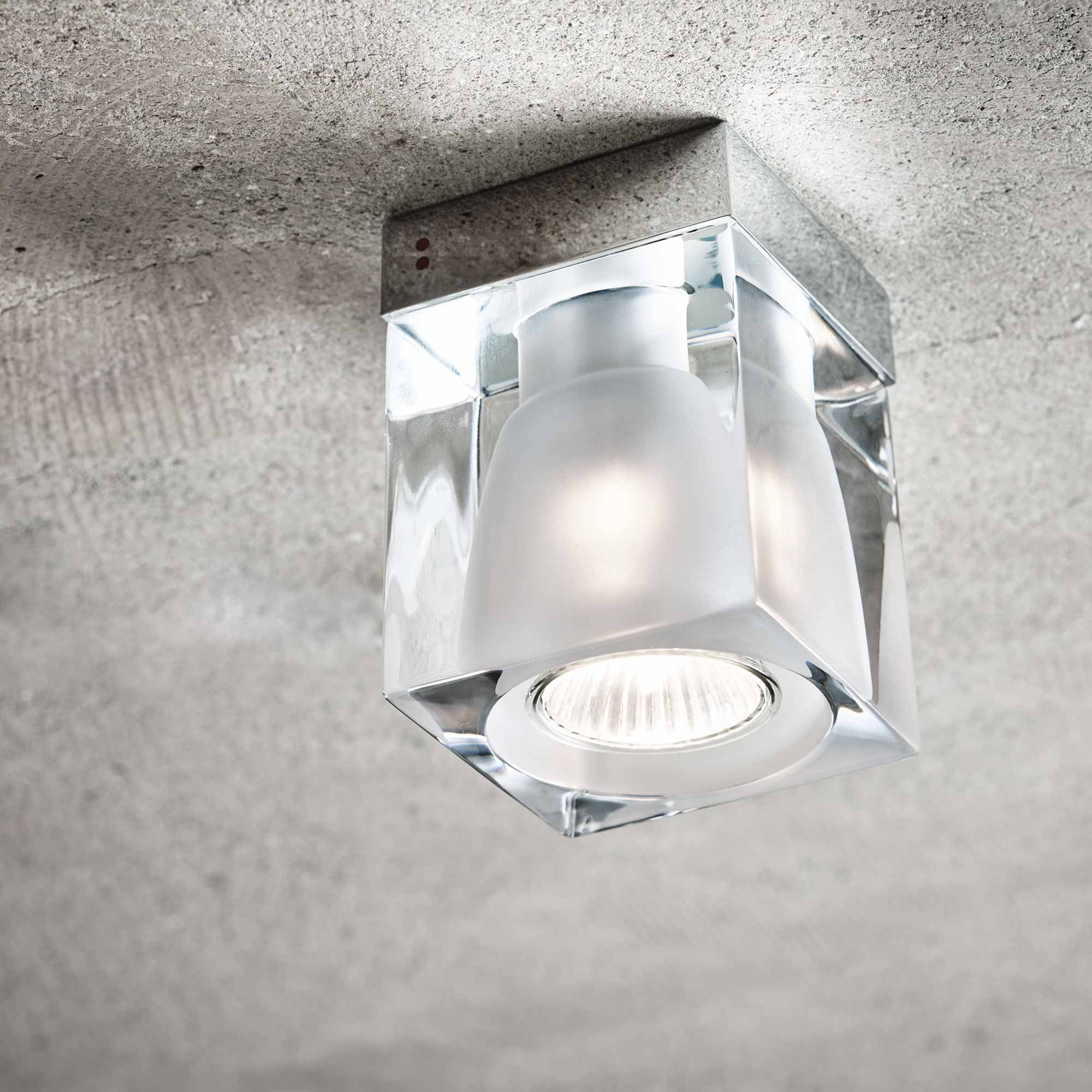 Ice Cube Ceiling Spotlight With Pressed