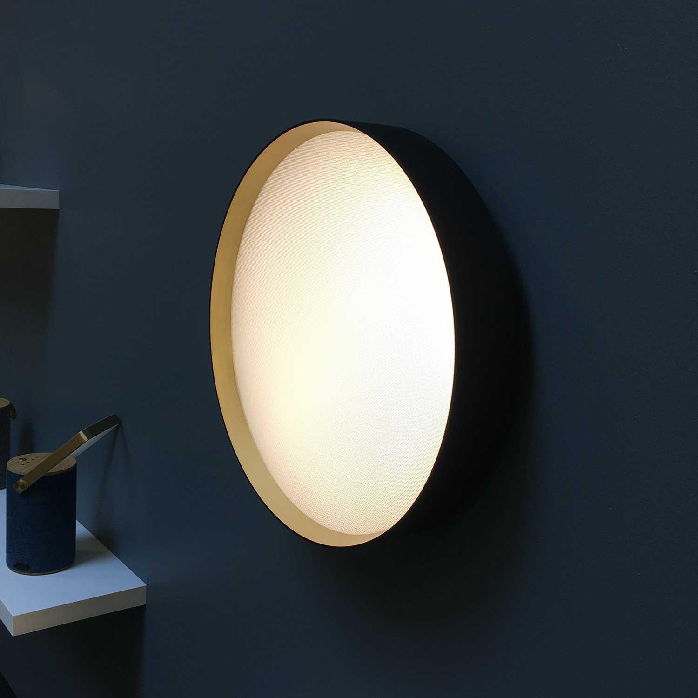 Lucia Sort guld Ø45 loftlampe Lampefeber
