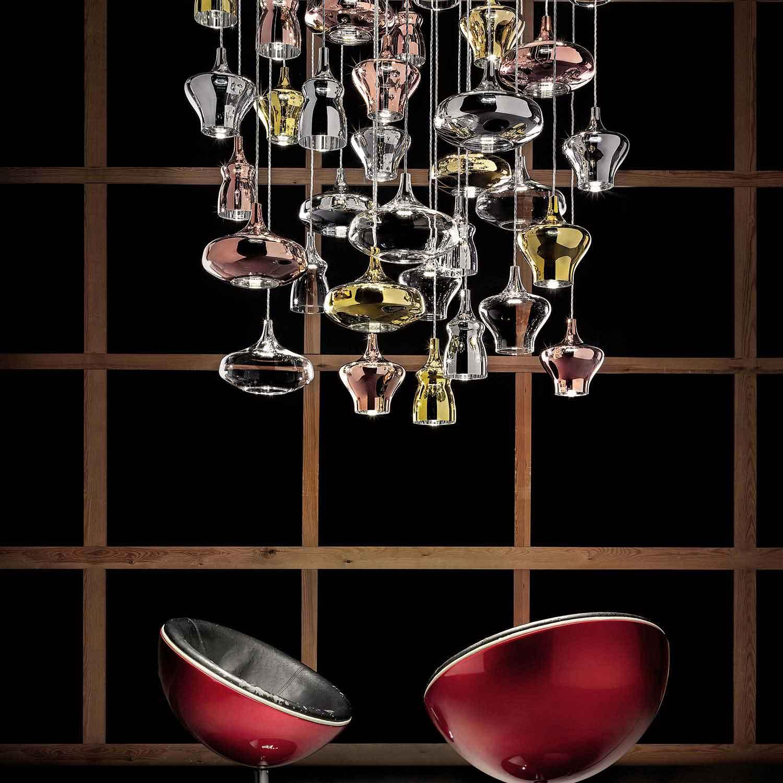 Nostalgia SO1 pendel | Italienske glas pendler Lampefeber