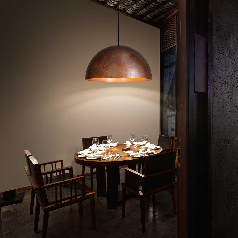 Oru Copper Pendant Light Lampefeber