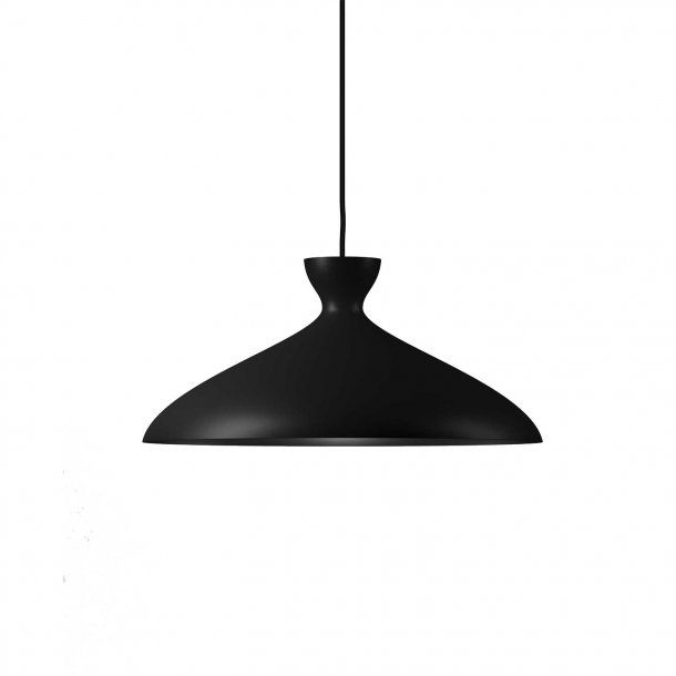Pretty Black Wide Pendant Light