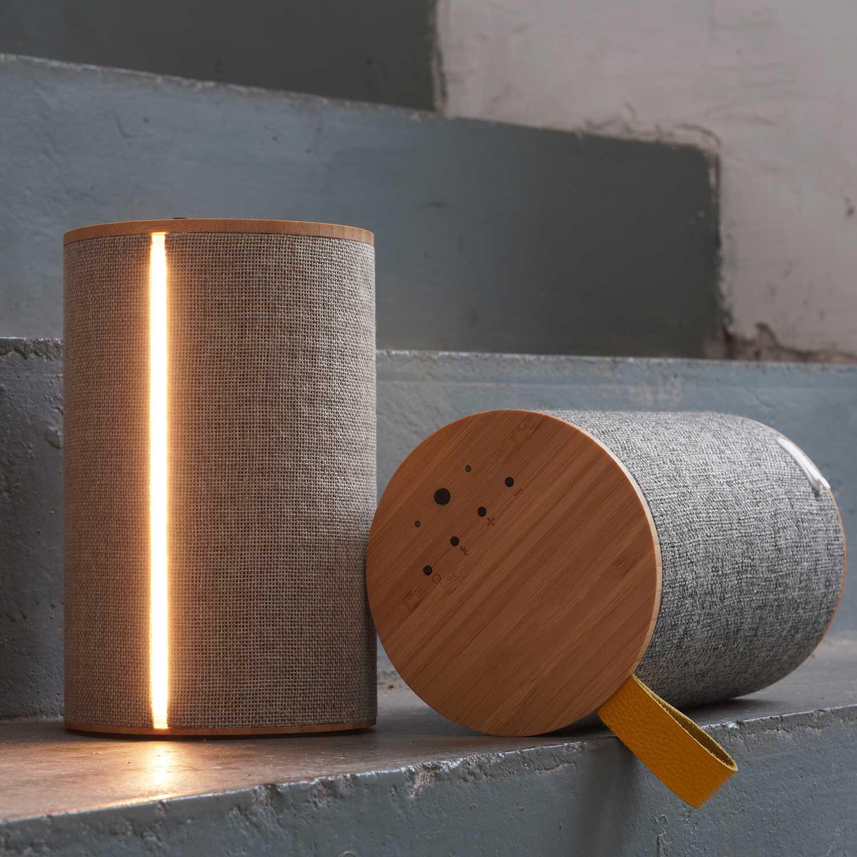Silo 2 Grå Bluetooth Høyttaler med lys LOOM Design Lampefeber