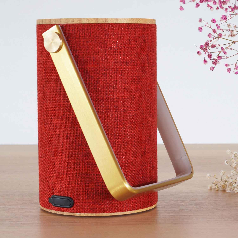 Silo Rød Bluetooth Høyttaler med lys LOOM Design Lampefeber