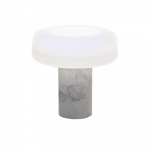 Solid table lamp Carrara marble