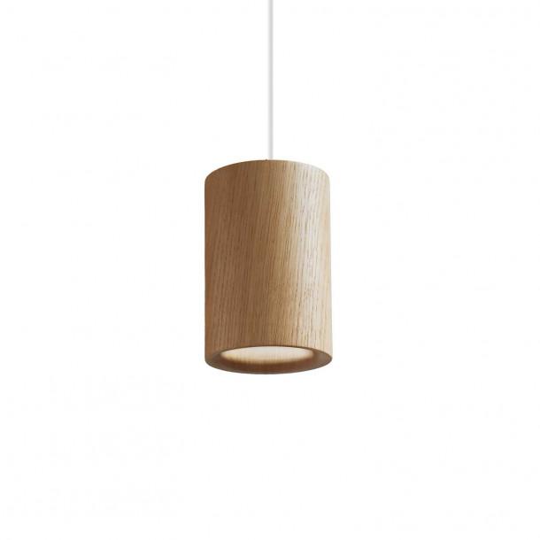 Solid Cylinder oak Pendant Light