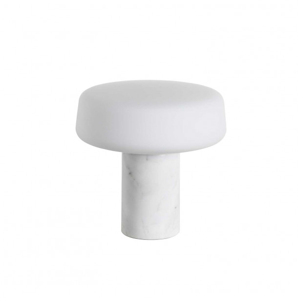 Solid Light - Small - Carrara Marble Table Lamp
