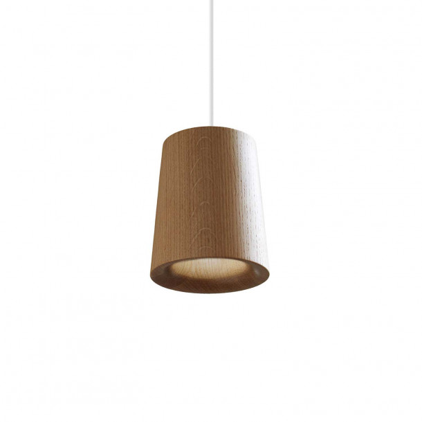 Solid Cone oak Pendant Light