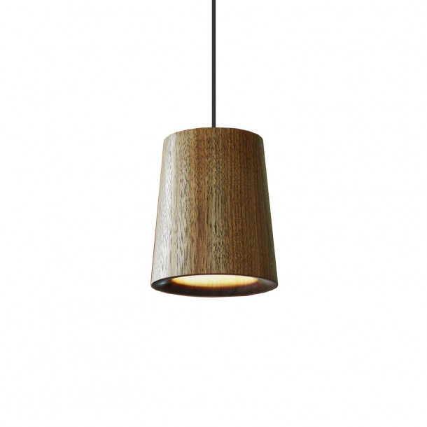 Solid Cone walnut Pendant Light