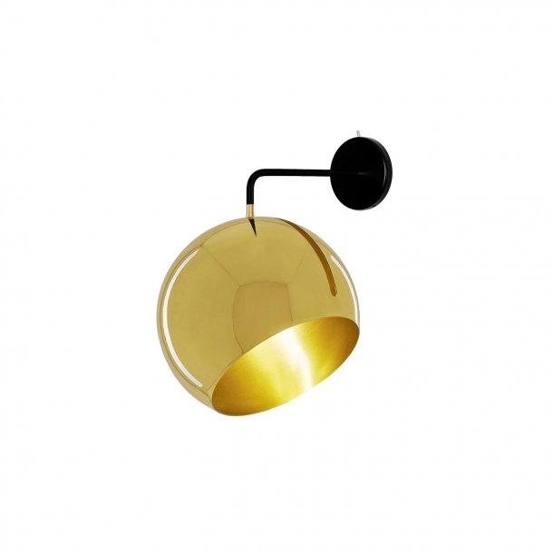 Tilt Globe Brass Wall light