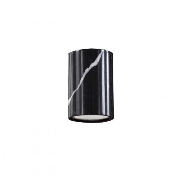 Solid Cylinder Påbygningsspot Nero Marquina Marble