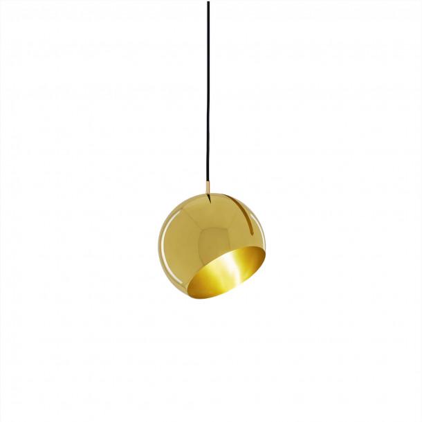 Tilt Globe Brass Pendant Light