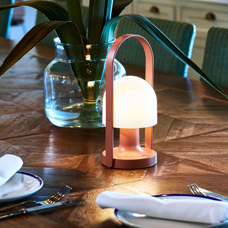 FollowMe Terracotta batteridriven bordslampa – Lampefeber
